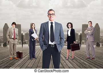 Business people team. - Group of business people team over...