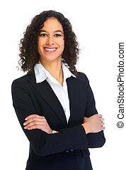 Young smiling business woman portrait - Young smiling...