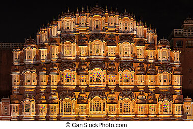 Hawa Mahal palace, Jaipur - Hawa Mahal palace (Palace of the...