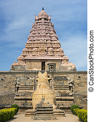 View on Gangaikunda Temple from entrance to park -...