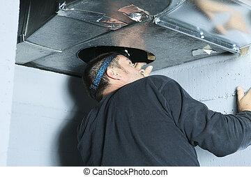 a, ventilation, nettoyeur, Chèque, pour,...