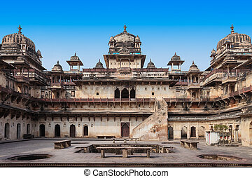 Jehangir Mahal Orchha Fort in Orchha, India