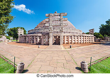 Sanchi Stupa, India - Sanchi Stupa is located at Sanchi...