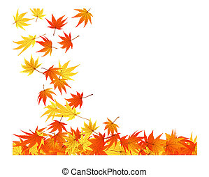 twisted leaves - Twisted row of autumn maples leaves Vector...