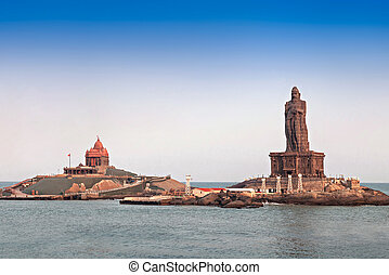 Vivekananda and Thiruvalluvar statues - Vivekananda Rock...