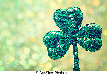 Saint Patricks Day green clover ornament - Saint Patricks...