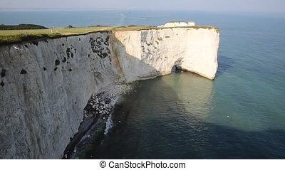 Chalk cliffs Old Harry Rocks Dorset - Chalk cliffs Old Harry...