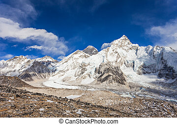 Everest landscape, Himalaya - Everest, Nuptse and Lhotse...