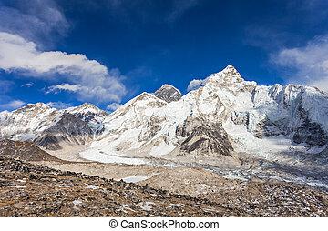 Everest landscape, Himalaya - Everest, Nuptse and Lhotse...