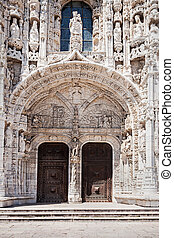 The Jeronimos Monastery or Hieronymites Monastery is located...
