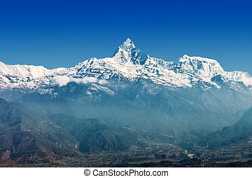 Machhapuchchhre mountain - Fish Tail in English is a...