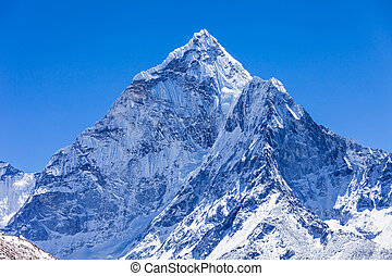 Ama Dablam, Himalaya - Ama Dablam mountain in Everest...