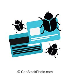 computer infection design, vector illustration eps10 graphic...