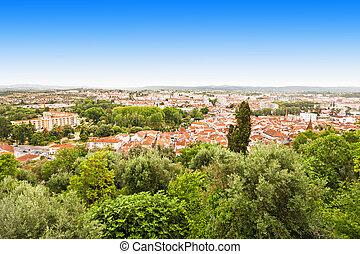 Tomar panorama view, Santarem District in Portugal