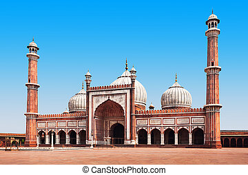 Jama Masjid is the principal mosque of Old Delhi in India