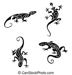 Lizard Tribal Tattoo