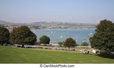 Swanage coast Dorset UK PAN - Swanage Dorset England UK near...