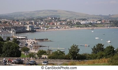 Swanage town and coast southern uk