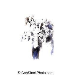 Blot Dark blue, black divorce illustration artist of...