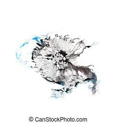 Blot divorce Dark blue, black illustration artist of...