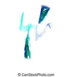 Blot divorce Green, dark blue illustration artist of...