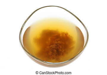 Apple cider vinegar with mother - A bowl of raw and...