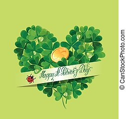 Holiday card with calligraphic words Happy St Patricks Day...