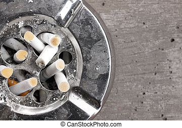 Cigarette with ashtray