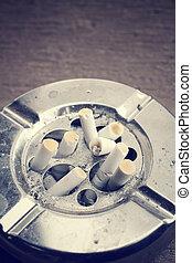 Cigarette with ashtray