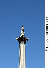 Nelson's column in Trafalgar Square of London, UK