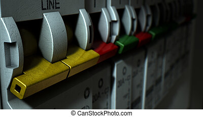 Electrical Circuit Breaker Panel