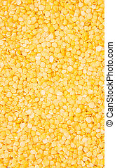 Yellow Lentils (background image) - Heap of yellow Lentils...