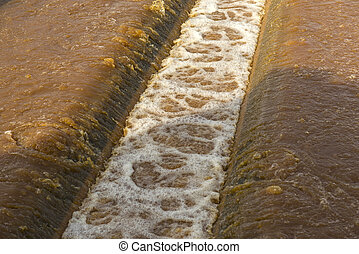 Water recycling in big sedimentation drainages