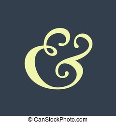 Ampersand - Handwritten ampersand symbol for wedding...