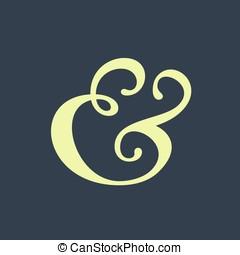 Ampersand - Handwritten ampersand symbol for wedding...