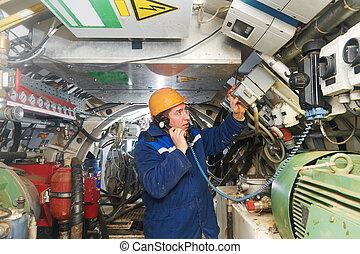 undeground working in tunnel - Tunneller sinker worker...