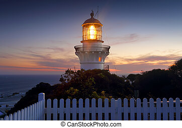 Sugarloaf Point Lighthouse at sundown - A long exposure...