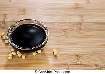 Soy Sauce - Portion of Soy Sauce in a small bowl