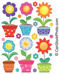 Flower theme collection 2 - eps10 vector illustration