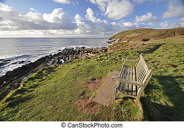 Southwest Coast Path view to Baggy Point - Seat on the...