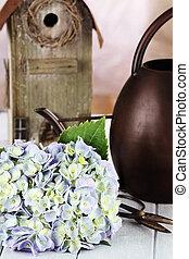 Hydrangea and Gardening Supplies