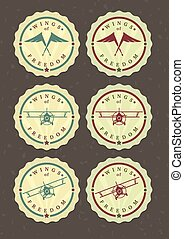 Vector set of aviator icons - Vector set of aviator icons,...