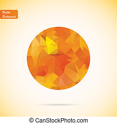 Abstract polygonal vector background, eps10