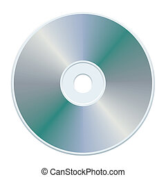 Gray CD - Blank gray compact disc, vector illustration