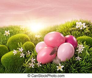 ピンク, 卵, イースター