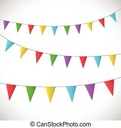 Vector Bunting Banners - Illustration of colorful bunting...