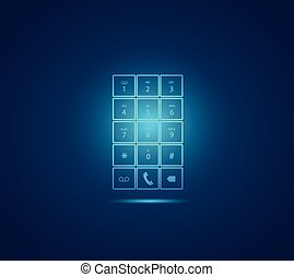 Mobile Phone Keypad Illustration - Illustration of a glowing...