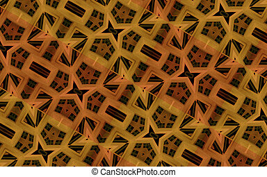 Digital Luxury Geometric Pattern - Geometric abstract...