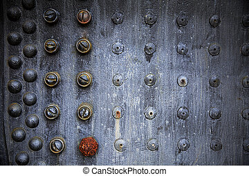 Rusting Rivet Pattern - A repeating pattern of rusting...