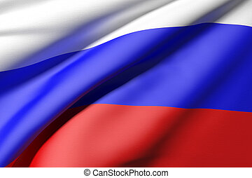 russian flag - 3d rendering of a russian flag
